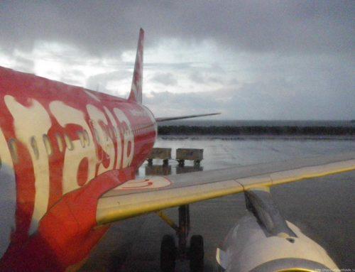 エアアジアで行く沖縄旅行:台風に備える
